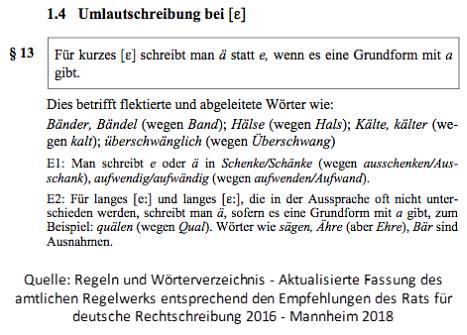Regeln Amtliche Rechtschreibung